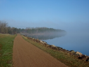 The Confederation Trail in St Peters Bay